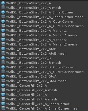 A strict naming scheme keeps assets organised